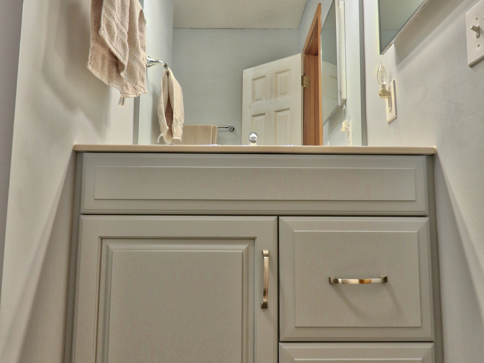 Painted Vanity & Cultured Marble After 05